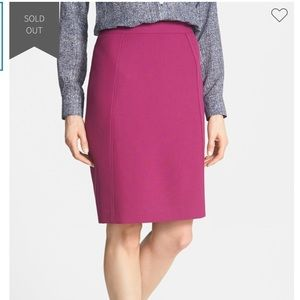 Purple Halogen Seamed Pencil Skirt